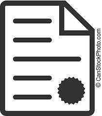 BW icon - Contract document