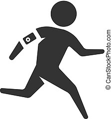 BW icon - Running athlete