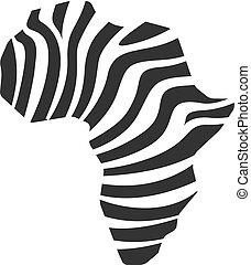 BW Icons - Africa map striped