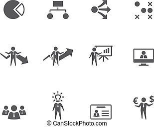 BW Icons - Business - Business icon series in single color...