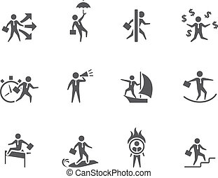 BW Icons - Businessman - Businessman icon in various...