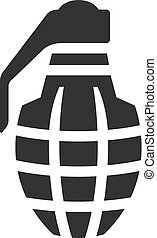 BW Icons - Grenade - Grenade icon in single color. Military...
