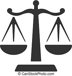 BW Icons - Justice scale - Justice scale icon in single...