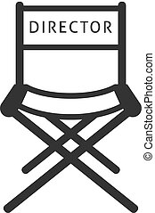 BW Icons - Movie director chair