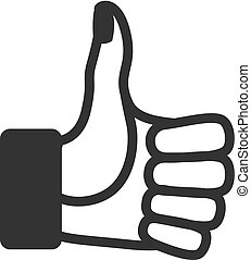 BW Icons - Thumb up hand