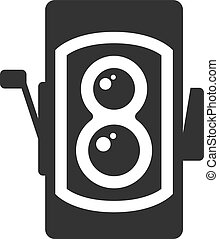 BW Icons - TLR camera - Twin lens reflex camera icon in ...