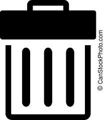 BW Icons - Trash bin