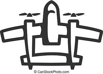 BW Icons - Vintage airplane