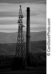 bw industrial background