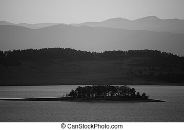 bw lake background