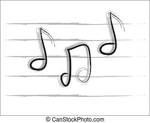 b&w, notizen, musik