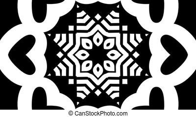 b&w, schleife, kaleidoskop