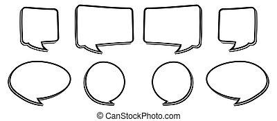 bw speech bubble - black and white speech bubbles