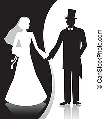 b&w, trouwfeest