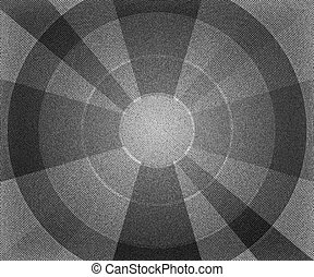 BW Vintage Circles Background