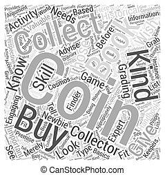 BWCC coin collecting book Word Cloud Concept