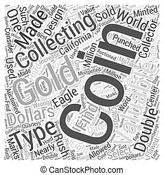BWCC design types of US coins and coin collecting Word Cloud Concept
