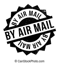 By Air Mail ruuber stamp
