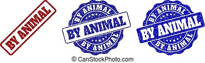 BY ANIMAL Scratched Stamp Seals