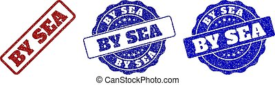 BY SEA Scratched Stamp Seals