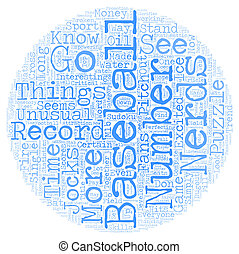 By The Numbers text background wordcloud concept