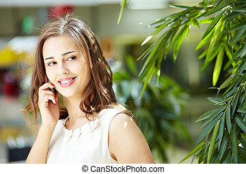 By the phone
