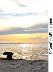 by the sea in Croatia
