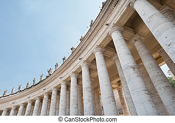 By the Vatican city