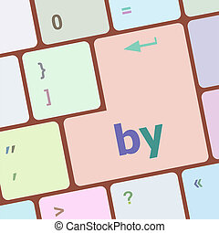 by word on computer keyboard key