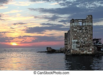 Byblos, Lebanon - old sea fort protecting byblos harbor