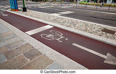 bycicle, bana, in, milan