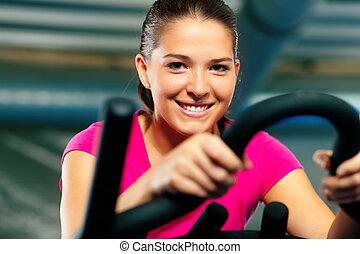 bycicle, ginásio, indoor, ciclismo