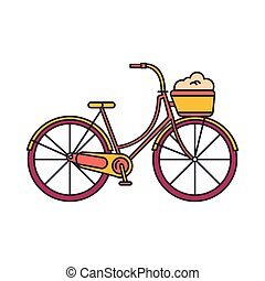 Bycicle icon, cartoon style - Bycicle icon. Cartoon bycicle...