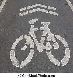 bycicle road sign.