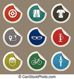 Bycicle simply icons - Bycicle icons set for web sites and...