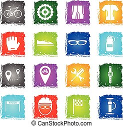 Bycicle simply icons - Bycicle simply symbol in grunge style...
