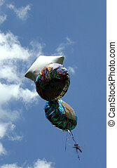 Bye Bye - Balloons floating up to the sky.