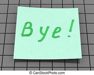 bye. text