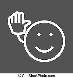 Bye, Goodbye - Bye, goodbye, see icon vector image. Can also...