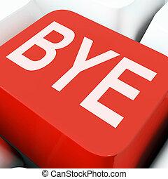Bye Key Means Farewell Or Departing - Bye Key On Keyboard...