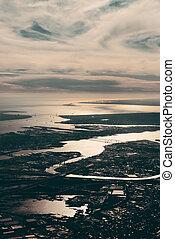 byen, aerial udsigt