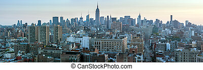 byen, antenne,  28, united states,  -,  April,  Skyline, Gade,  York, Nye,  2012, Udsigter,  Manhattan, Skyskrabere