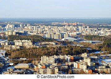 byen, antenne,  Vilnius, Udsigter