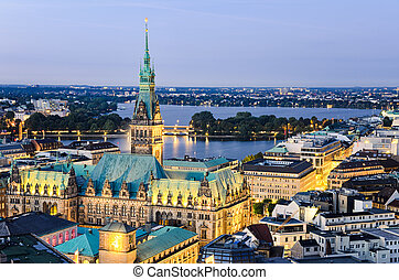 byen, hamborg, hal, tyskland