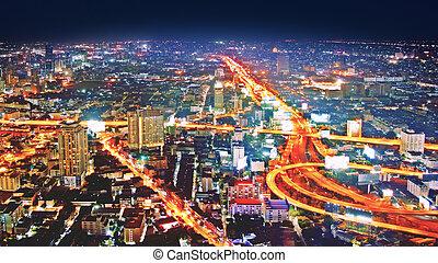 byen, hen, himmel, nigth