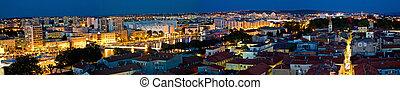 byen, i, zadar, antenne, panorama