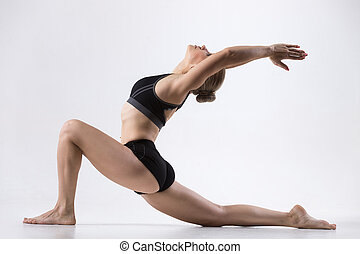 bygelhäst cyklist, yoga framställ
