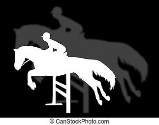 bygelhäst hoppande