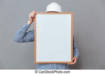 byggmästare, holdingen, copyspace, bord
