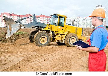byggmästare, konstruktion, inspektör, område